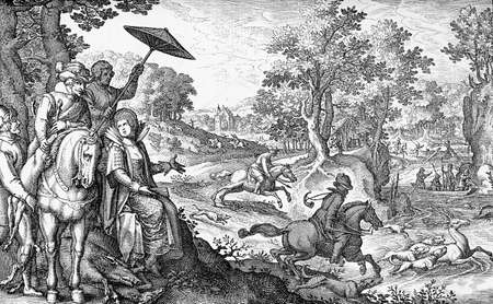 leisure time: XVII century, Germany, aristocracy leisure time and sport in the countryside, deer hunting