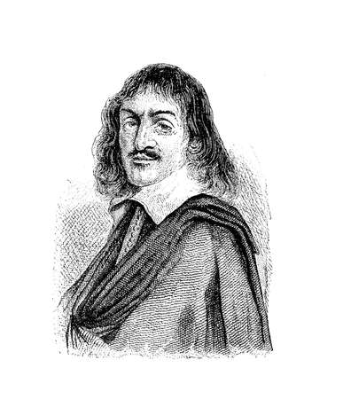 Portrait of René Descartes (31 March 1596 – 11 February 1650) known also as Renatus Cartesius, French philosopher, mathematician  and scientist , father of the analytical geometry, of the infinitesimal calculus and of three dimensional coordinate syste