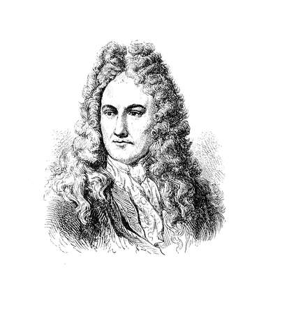 physicist: Portrait of Gottfried Wilhelm von Leibniz (1 July 1646 - November 14, 1716) , German philosopher, mathematician and physicist, developer of the differential and integral calculus and creator of binary number system, which is the foundation of virtually al