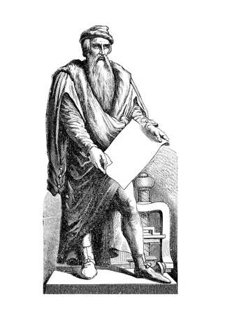 johannes: Johannes Gutemberg (1398 - 1468) was a German inventor from Mainz who Introduced print in Europe with the mechanical movable type printing