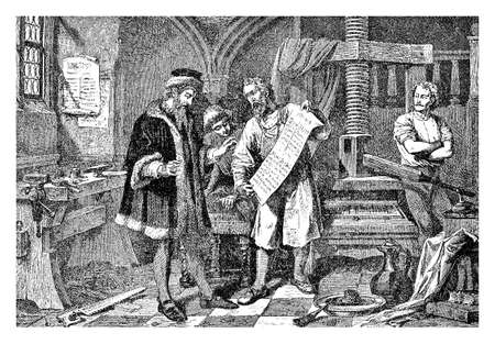 Johannes Gutemberg the first European publisher in his print workshop. Gutemberg (1398 ? ? ?,?? ? ? 1468) was a German inventor from Mainz who Introduced print in Europe with the mechanical movable type printing