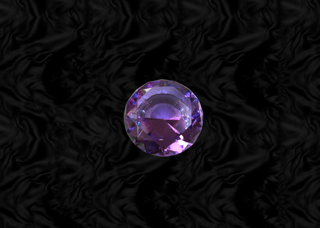 Glittering gem, purple amethyst on black velvet background Stock Photo - 73197588