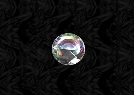 Glittering gem, white diamond on black velvet background Stock Photo - 73197592
