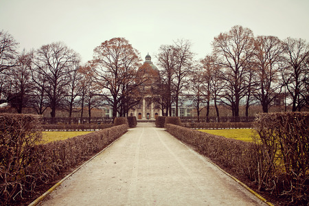 Munich -  Winter view of Hofgarten baroque park and Bavarian State Chancellery, state agency of the German Free State of Bavaria Stock Photo - 73088517
