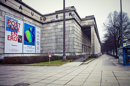 Munich, Haus der Kunst now modern art museum, built in 1933 as monumental structure in Nazi architecture style Stock Photo - 73736092