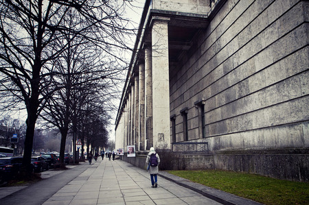 Munich, Haus der Kunst now modern art museum, built in 1933 as monumental structure in Nazi architecture style Stock Photo - 73736095
