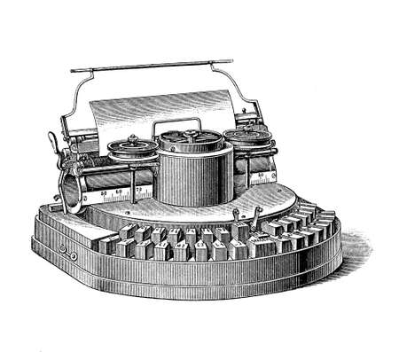 Hammond office typewriter, first manufactured in 1881, innovative for the use of different type faces Stock Photo