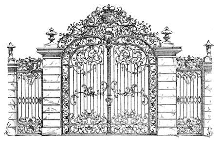 Gate to the palace gardens in Karlsruhe, from XVII century.