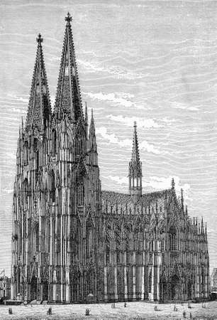 Cologne cathedral in gothic style, the seat of the Archbishop of Cologne and of the administration of the Archdiocese of Cologne.