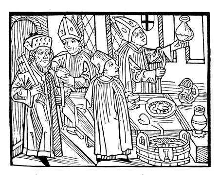 minster: Bishops testing wine and food at the Council of Constance (1414-1418)