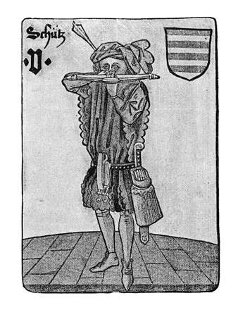 schutz: German Tarot XV century: the Guard