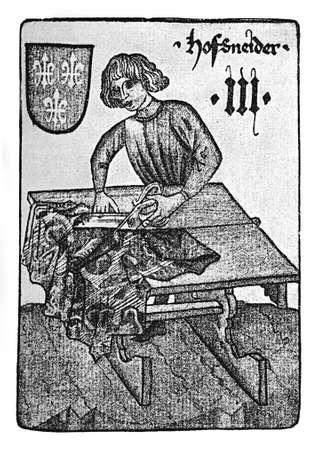 soothsayer: German Tarot XV century: the dressmaker