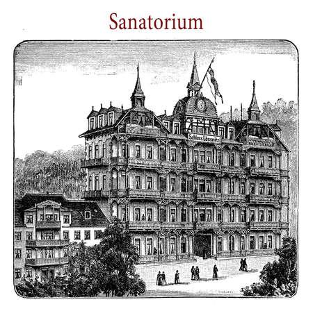 convalescence: Sanatorium, representation of one of the many private health establishment in Germany in XIX century