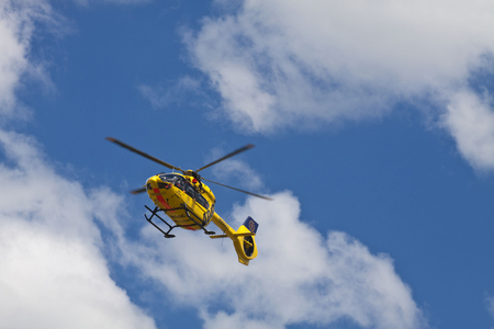 ADAC emergency helicopter on service