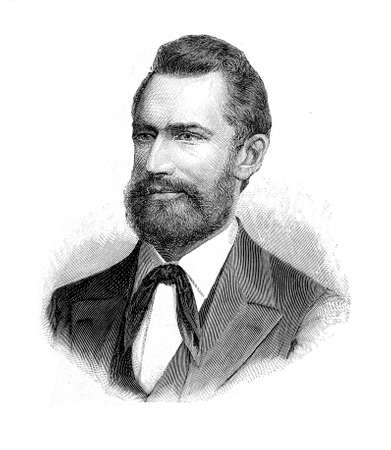 Portrait of Ludwig Leichhardt German naturalist and famous explorer of the Australian continent, where disappeared misteriously with all his expedition party in XIX century Stock Photo