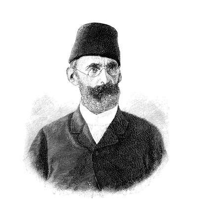 Portrait of Mehmed Emin Pasha, Ottoman-German Jewish physician and naturalist born as Isaak Eduard Schnitzer, governor of the Egyptian Province of Equatoria for the Ottoman Empire in XIX century