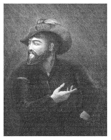 Portrait of Hernán Cortés de Monroy y Pizarro Altamirano, Marquis of the Valley of Oaxaca, spanish conquistador, caused the fall of the Aztec Empire in XVI century Stock Photo