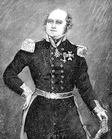 Portrait of Sir John Franklin English Royal Navy officer and explorer of the Arctic, he disappeared on his last expedition attempting to navigate a section of the Northwest Passage