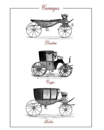 urbane: XIX century popular carriages: landau, coupe and berlin