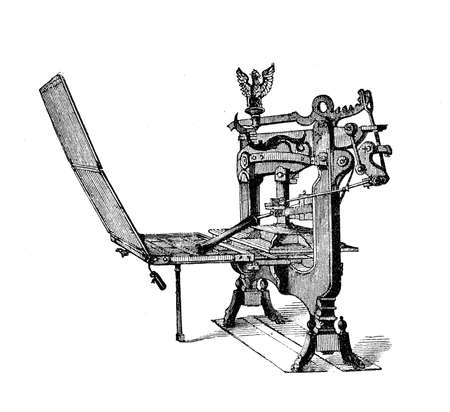 The Columbia Press  invention of George Clymer, an American of Swiss extraction, was manufactired between 1845 and 1851