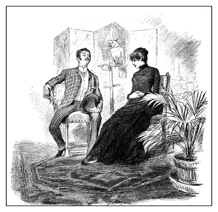 the elegant baron with cavalier attitude  pays a visit proposing a young lady as mistress