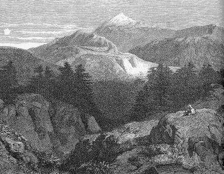 Lebanon, panoramic view of Mount Lebanon