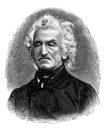 Portrait of Johann Nepomuk von Ringseis (1785 - 1880), German physician and professor at the Medical Faculty of Munich, member of Bavarian Academy of Sciences, vintage engraving