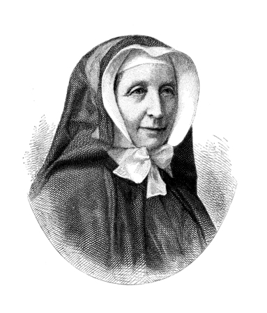 Vintage portrait of Pauline von Mallinckrodt (1817-1881), German religious and aristocratic, foundress of the Sisters of Christian Charity