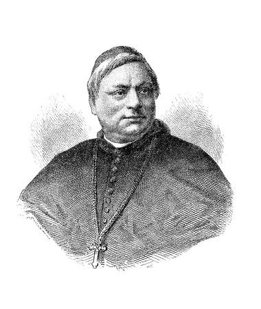 Engraving portrait of  Luigi Jacobini (1832 - 1887), Italian cardinal of Roman Catholic church