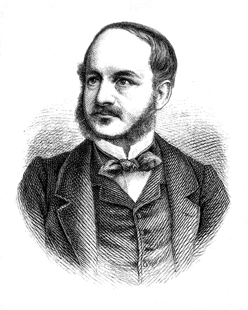 Vintage engraving portrait of Karl Friedrich von Savigny ( 1814 – 1875), Prussian diplomat and politician