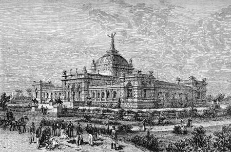 Vintage print, Philadelphia world fair 1876, the Centennial International Exhibition,