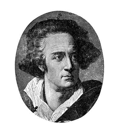 Vintage portrait of Count Vittorio Alfieri (1749-1803), Italian dramatist and poet, founder of the Italian tragedy