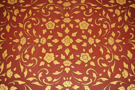 Vintage wallpaper pattern with floral background