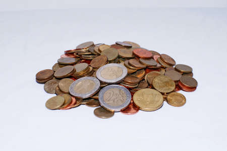 Euro coins money background  Stock Photo - 12966093