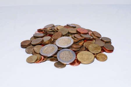 Euro coins money background  Stock Photo