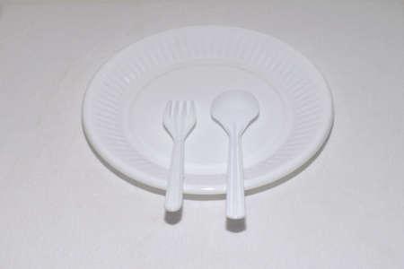 Plastic white dish