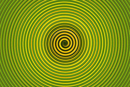 extra sensory perception: Green cyclone hurricane illustration with depth