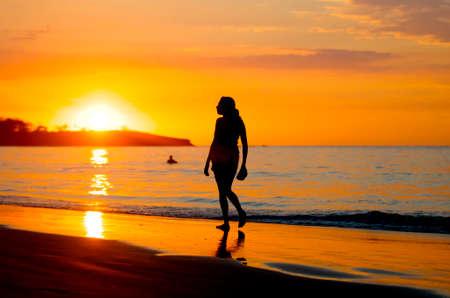 costa: Sunset in Costa Rica Editorial