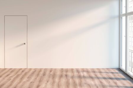 3d illustration. Cozy modern hall with a picture