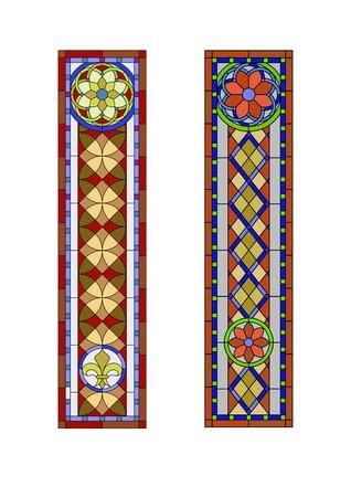스테인드 글라스 패턴, 고딕 양식의 기하학적 패턴