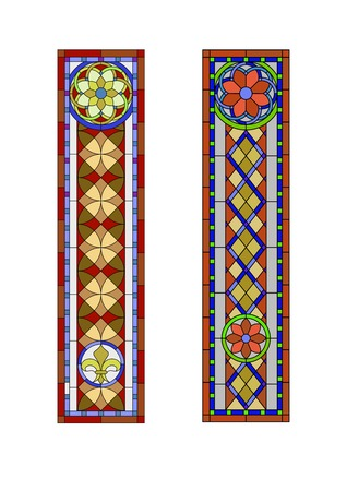 church interior: Stained glass pattern, geometric pattern in the Gothic style