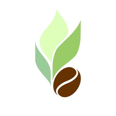 chicchi di caff?: Etichetta, fagioli marchio di caffè e foglie di tè