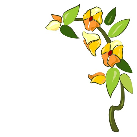 fusing: Sketch for fusing with yellow stylized flower Illustration