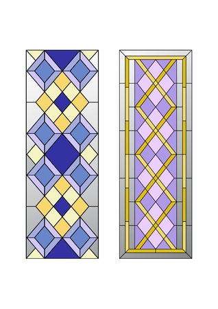 gothic architecture: Geometric ornament, stained glass with rhombs pattern