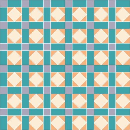 church interior: geometric seamless pattern with rhombs and squares