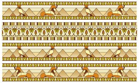 esfinge: Ornamento del antiguo Egipto a los frescos, vidriera o en la frontera