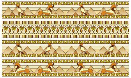 Ornament of ancient Egypt to the frescoes, stained-glass window or border
