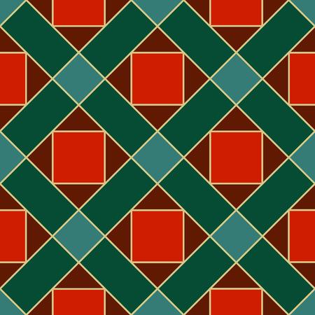 Seamless matériau de carreaux de motif avec losanges et places Banque d'images - 49172192
