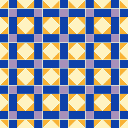 Seamless pattern with diamonds, rhombs  and squares