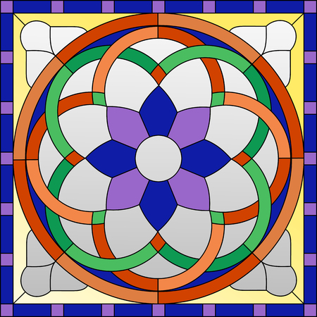 stained glass ornament in the Gothic style for the window